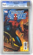 New Avengers # 1 Spider-Man Variant Cgc 9.8 White Pages Bendis Finch Luke Cage