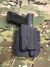 Black  Kydex Holster Glock 17/22/31 Threaded Barrel Inforce APL gen3 light only
