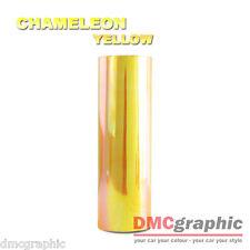 Chameleon Amarillo Coche Moto Faro Luz Trasera Film Adhesivo Vinilo Tinte Envolver