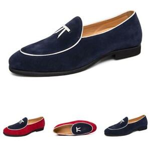 Men's Low Top Faux Leather Pointy Toe Shoes Business Work Oxfords Slip On Party