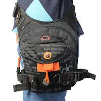 Men Nylon Drop Leg Bag Tactical Military Motorcycle Riding Belt Waist Fanny Pack