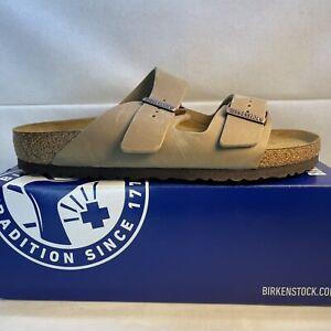 Birkenstock Arizona Soft Footbed Tobacco Brown Slides  Men's Size 43 EUR