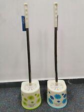 Toilet Brush and Holder Set, Toilet Bowl Brush with Holder for Bathroom