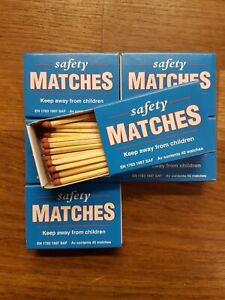 Pack of 6 Boxes Swedish Match Safety Matches 40 Matches Per box 240 Matches