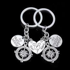 BEST FRIEND FOREVER BFF BROKEN HEART KEYRING KEYCHAIN CHARM COMPASS GIFT PRESENT