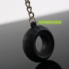 5PCS/Lot Motorcycle Motorbike Tyre Keychain Key Chain Tire Keyring Key Ring