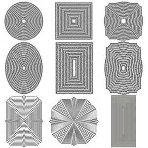 New Basic Border Frame Metal Cutting Dies Stencils Scrapbooking Paper Card Craft
