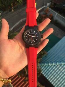 Michael Kors Dylan Red Rubber Chronograph Watch MK8382