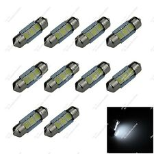 10X White Festoon 31mm 32mm 3 SMD 5050 LED Interior Dome Light Bulbs Auto ZI002
