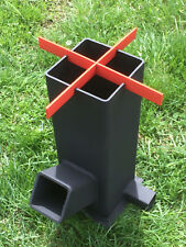 Rocket Stove - Portable Wood Burning Stove Top, Survival, Heater, Camping, BBQ *