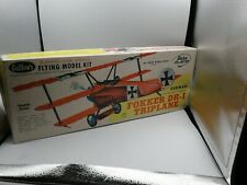 "Guillow's Balsa Fokker DR-I Triplane Kit 204 Wing Span 20""  Complete nice box"