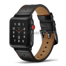 Premium Genuine Leather Watch Band Strap For Apple Watch Series 5 4 3 44mm 42mm