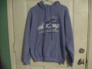 Air Force Wife Purple Hoodie Pullover Jacket Size M Rank Authority Hooded Hoody