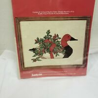 "JANLYNN  Counted Cross Stitch Kit  RED HEADED DUCK  Gloria/Pat 12"" x 9"" vintage"