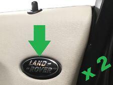 2pc Interior door card badge upgrade kit LandRover Discovery 3 logo trim HSE LR3