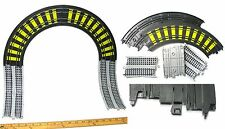 1989 TYCO Track Sections Vertical WALL CLIMBER TRACK Double Rail Curves +RR Look