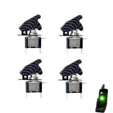 HOTSYSTEM Lot4 Carbon Fiber Green Led Light Toggle Rocker Switch 12V 20A ON OFF