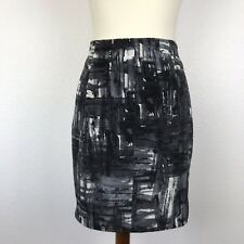 Vince Women Sz 4 Skirt Print Lined Straight Mini
