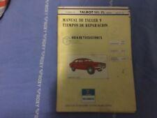 Manual De Taller Talbot 180