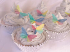 Edible Butterfly Cake Topper 15pc Rainbow Pride Yes Love Gay Wedding Celebrate