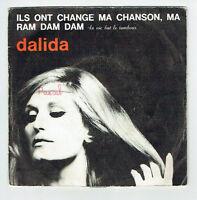"DALIDA Vinyle 45T 7"" RAM DAM DAM -ILS ONT CHANGE MA CHANSON - BARCLAY 45702 RARE"