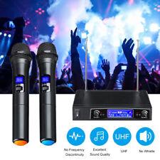 Karaoke Microphones UHF 2 Channel Cordless Dual Handheld Microphone Mic System