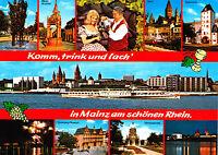 Mainz am schönen Rhein ; Ansichtskarte 1996 gel.