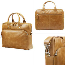 "Genuine Leather dbramante1928 Briefcase Hand Carry 14"" Inch MackBook Laptop Bag"