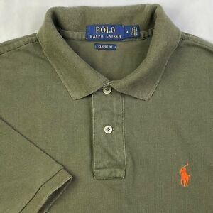 Polo Ralph Lauren Olive Green Polo Shirt Men's Size M Classic Fit