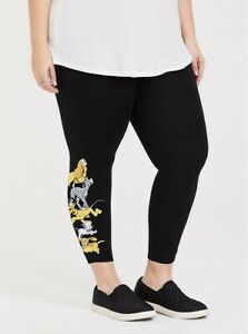 Torrid Disney Animals Dogs Black Crop Leggings NWT New 0X