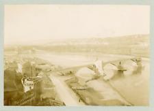 France, Avignon, Le Pont Saint-Bénézet, ca.1905, vintage citrate print Vintage c