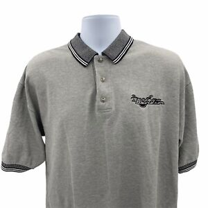 Harley Davidson Kosco Kinnelon NJ Grey Polo Shirt Men's Size XL Made In USA