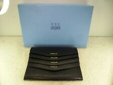 Boxed Smythson of Bond Street Genuine Leather Travel Money Wallet
