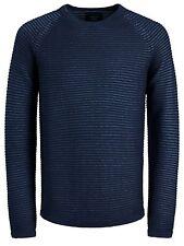 JACK & JONES New Men's Wind Knit Regular Fit Cotton Jumper Crew Neck Sweater