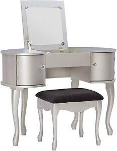 Linon Paloma Vanity Set Silver
