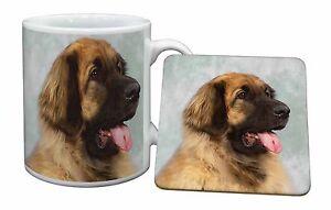 Blonde Leonberger Dog Mug+Coaster Christmas/Birthday Gift Idea, AD-LE1MC