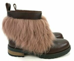 NEW UGG Womens Otelia Coconut Shell 1095651 Lined Fur Boots Size US 6M