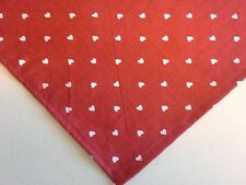 Dog Bandana/Scarf Tie On/Slide On Red Valentine Hearts Custom Made by Linda M L