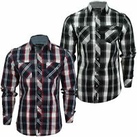 Mens Check Shirt by Dissident 'Distrikt' Long Sleeved