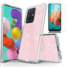 For Samsung Galaxy A51 A71 4G Case Glitter Bling Phone Cover HD Screen Protector