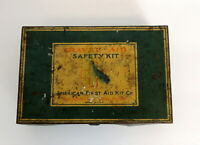 Antique American First Aid Tin Safety Kit Made In Brooklyn NY Empty