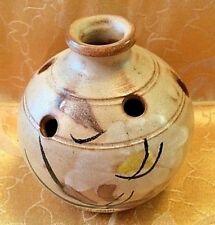 VALLAURIS Pottery Flower Vase Pansy Pot Flower Frog Handmade Jug France UNIQUE!