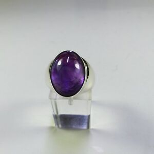 Ring Gr. 58, Silber 925 mit einemAmethyst,  Cabochon aus Brasilien