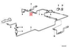 Genuine BMW 02 E12 E21 E23 E24 E28 E3 Brake hose rear 1pcs OEM 34321159878