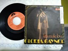 "7"" GLORIA GAYNOR LET'S MAKE LOVE I'VE GOT YOU UNDER MY SKIN COVER G-- VINILE EX+"
