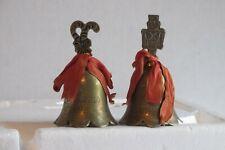 3 vintage silver Christmas bells