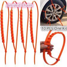 Universal Car Truck Snow Tire Chains & Socks Antiskid Chains Slip 10 PCS One Kit