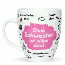 Sheepworld Tasse Ohne Schwester ist alles doof 400 ml Kaffeetasse Kaffeebecher