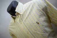 38891 Mens Polo Ralph Lauren Classic Striped Dress Shirt Size Large 16 34/35