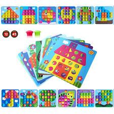 Mosaik Steckspiel für Kinder ab 2 Jahre 46pcs Lernspielzeug Geschenk für Junge
